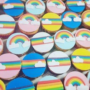 cupcakes regenboog